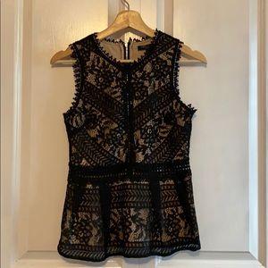 Black lace top!